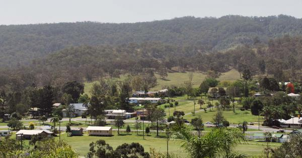 Rathdowney seen from the town lookout in the Scenic Rim, Queensland.