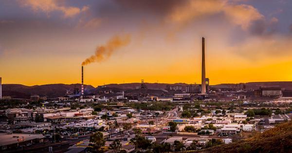 Sunset over Mt Isa, North Queensland.