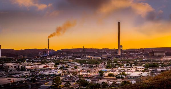 Sunset over Mt Isa, North Queensland.
