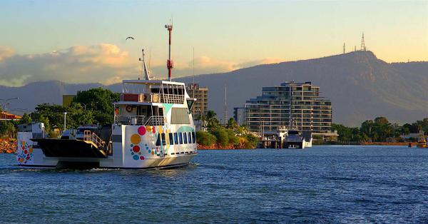 A boat on Townsville Port.
