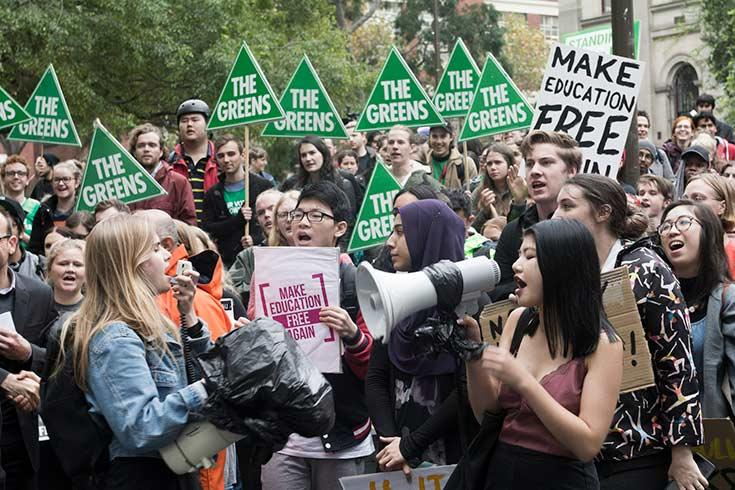 Melbourne education rally — photo cc by Corey Oakley