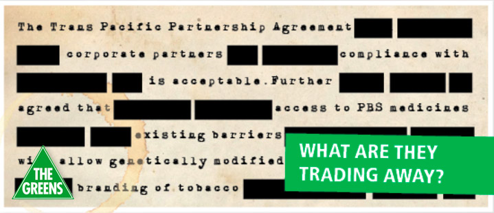 An image illustrating the censorship of the TPP