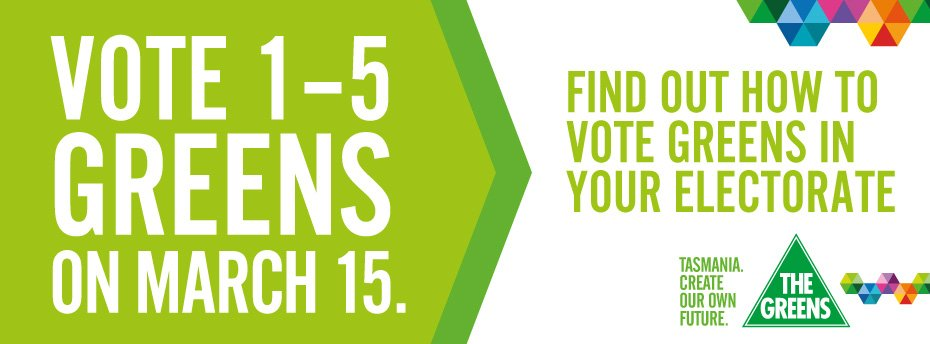 Vote 1 to 5 Greens on March 15